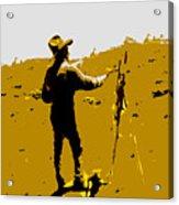 Painting Cowboy Acrylic Print