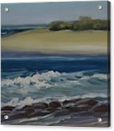 Painting Happy Valley Caloundra Qld Plein Air Painting Acrylic Print