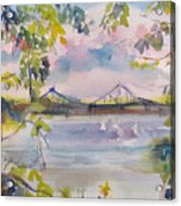 Painting In Nyack Acrylic Print