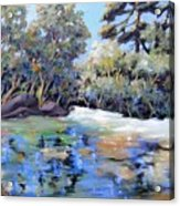 Painting In The Park Acrylic Print