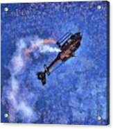 Painting Of Airbus Ec-120b Helicopter Acrylic Print