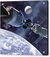 Painting Of Apollo-soyuz Test Project Acrylic Print