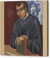 Painting Of Fr Balthasar Gracian Sj 180 Acrylic Print