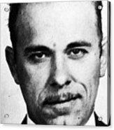 Painting Of John Dillinger Mug Shot Acrylic Print