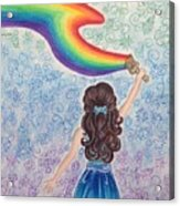 Painting Rainbow Acrylic Print
