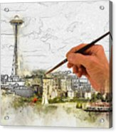 Painting Seattle Acrylic Print