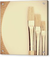 Painting Tools Acrylic Print by Wim Lanclus