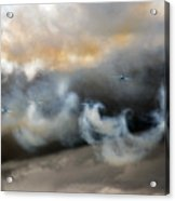 Painting With The Smoke Acrylic Print