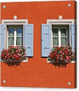 Pair Of Blue Shutters Acrylic Print