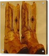 Pair Of Cowboy Boots Acrylic Print by Russell Ellingsworth
