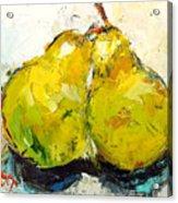 Pair Of Pears Acrylic Print