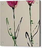 Pair Of Pinks Acrylic Print
