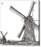 Pair Of Windmills 2016 Acrylic Print