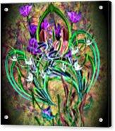 Paisley Floral Acrylic Print