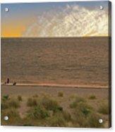 Pakefield Beach Sunset Acrylic Print