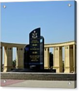 Pakistan Air Force Martyrs Monument Honoring Dead Pakistani Airmen At Paf Museum Karachi Pakistan Acrylic Print