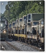 Pal Military Train Roll-by Acrylic Print