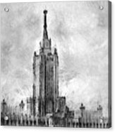 Palace Of Culture And Science Acrylic Print