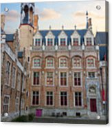 Palace Of Gruuthuse In Brugge Acrylic Print