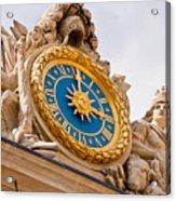 Palace Of Versaille Exterior Clock Acrylic Print