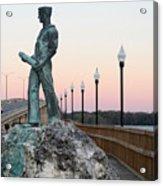 Palatka Memorial Bridge Navy Acrylic Print