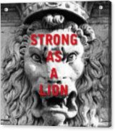 Palazzo Pitti Firenze Lion Acrylic Print