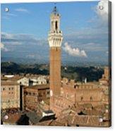 Palazzo Pubblico And Campo Siena Acrylic Print