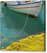 Paleohora Fishing Boat Acrylic Print
