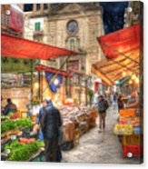 Palermo Market Place Acrylic Print