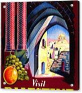 Palestine Travel Poster Acrylic Print