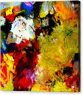 Palette Abstract Square Acrylic Print