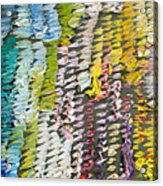 Palette. Colorful Painter Palette. Exhausted Paint And Abstract Painting. Acrylic Print