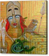 Pallas Athena Acrylic Print by Erika Brown