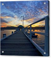 Palm Beach Wharf At Dusk Acrylic Print