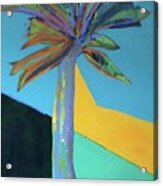 Palm In September, 2016. 24x18, Acrlyic On Canvas. Acrylic Print