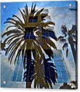 Palm Mural Acrylic Print