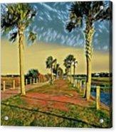 Palm Parkway Acrylic Print