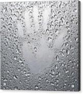 Palm Print On Wet Metal Surface Acrylic Print
