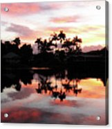 Palm Tree Inlet 2 Acrylic Print