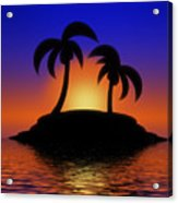 Palm Tree Island Acrylic Print