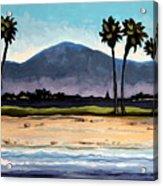 Palm Tree Oasis Acrylic Print