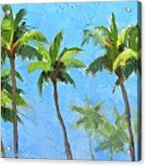 Palm Tree Plein Air Painting Acrylic Print
