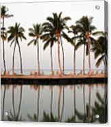 Palm Trees And Beach Chairs Acrylic Print