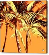 Palm Trees In Sepia Acrylic Print