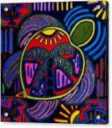 Palm Turtle Mola Acrylic Print