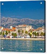 Palm Waterfront Of Split City Acrylic Print
