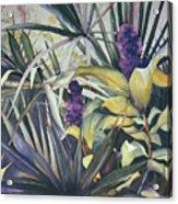 Palms And Hyacinths Acrylic Print