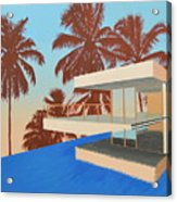 Palms On The Edge Acrylic Print