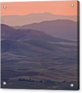 Palouse Morning From Steptoe Butte Acrylic Print