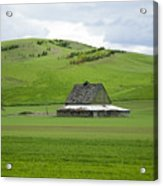 Palouse Old Barn Acrylic Print